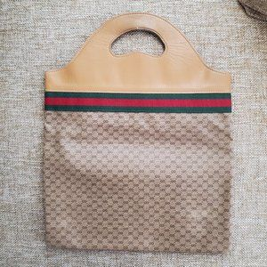 Vintage Gucci Tote Shopper Handbag